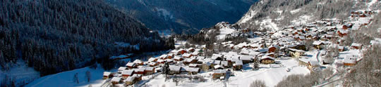 Overlooking Champagny Village