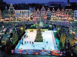 Ice Skating in Brugge